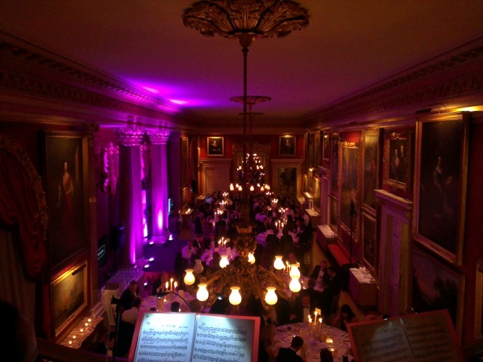 Goodwood house Uplighters and Sound System
