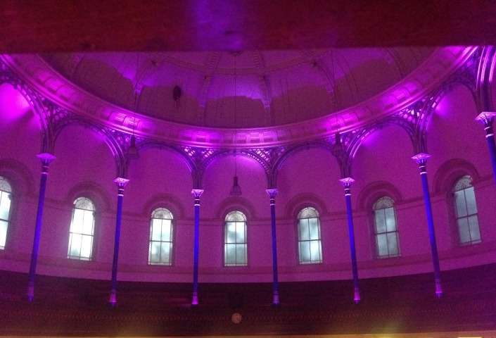 The Round Chapel London Ceiling Uplighting