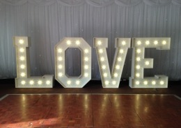 5ft LOVE Letter Hire at De Vere New Place Arden Suite