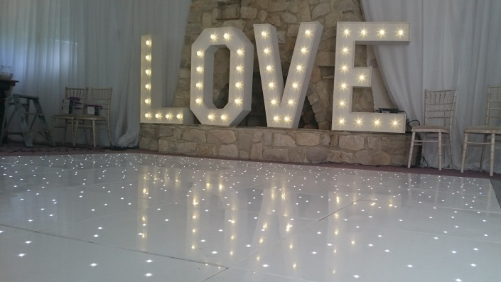 4ft love and dancefloor on hire at private house
