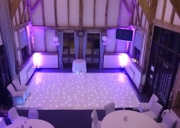 LED dancefloor and uplighter hire at warnham barn horsham west sussex
