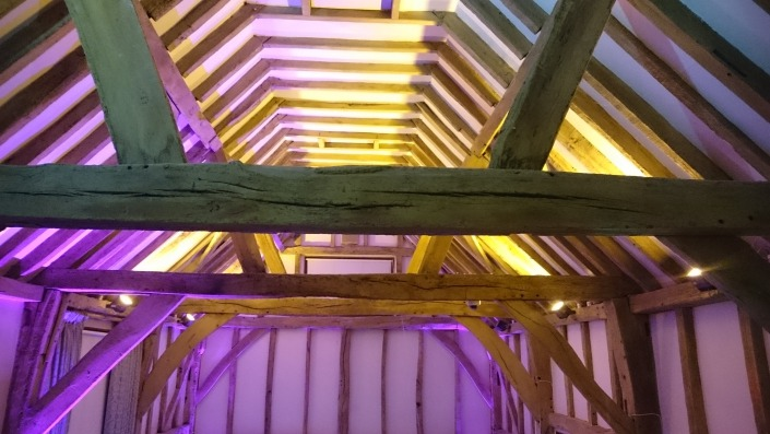 warnham barn west sussex uplighter hire