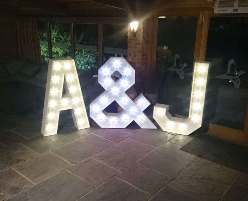 Gates Street Barn Bramley Individual Light Up Letter Hire