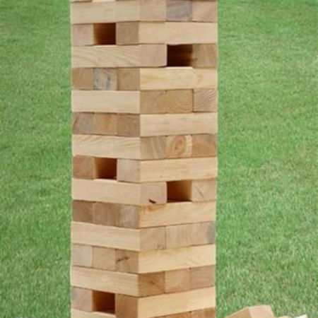 giant outdoor wedding party festival Jenga hire