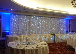 top table twinkle backdrop at marriott portsmouth