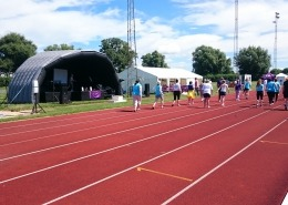 Relay for Life 2016 cancer research UK outdoor stage hire at mountbattern center portsmouth