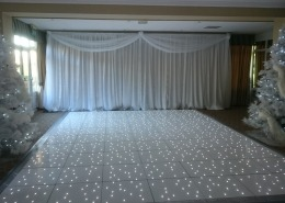 Brookfields Hotel White LED Dancefloor backdrop winter wonderland