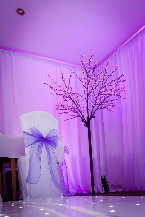 Pink cherry blossom tree wickham park golf club