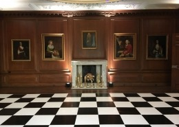 Cowdray dinning room black and white dancefloor