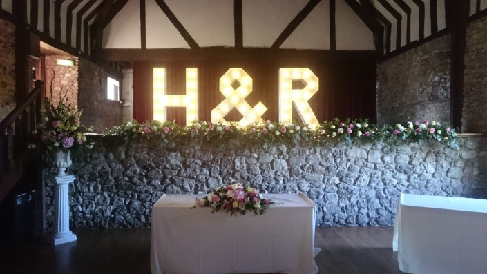 H and R individual Light Up Letters Domus Beaulieu