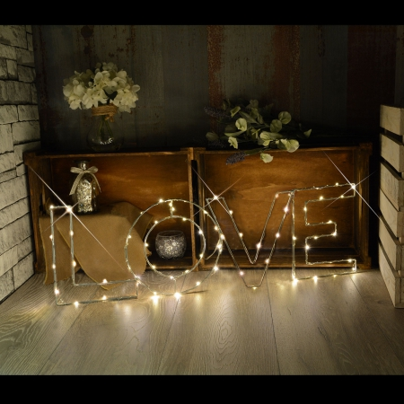 Large LED Wire Frame Word Motifs