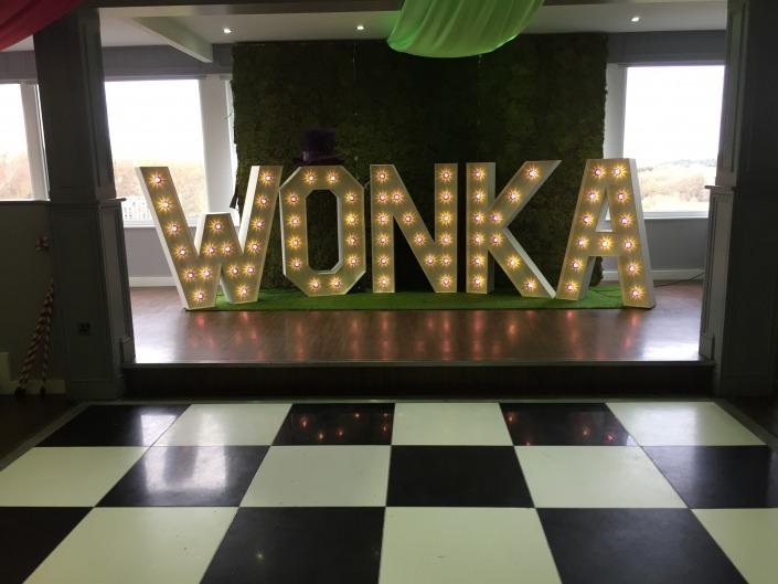 w o n k a wonka individual letters at skylarks