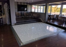 white LED dancefloor at skylarks golf and country club