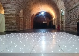 white led dancefloor at explosion museum gosport