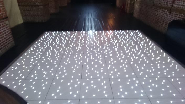 white led dancefloor at explosion museum of firepower gosport