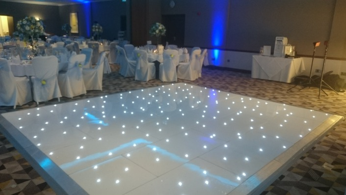 white led dancefloor at solent hotel and spa