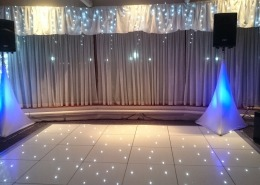 white led dancefloor at spinakker suite langstone hotel hayling island
