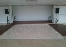 14ft x 14ft white LED dancefloor at froyle park