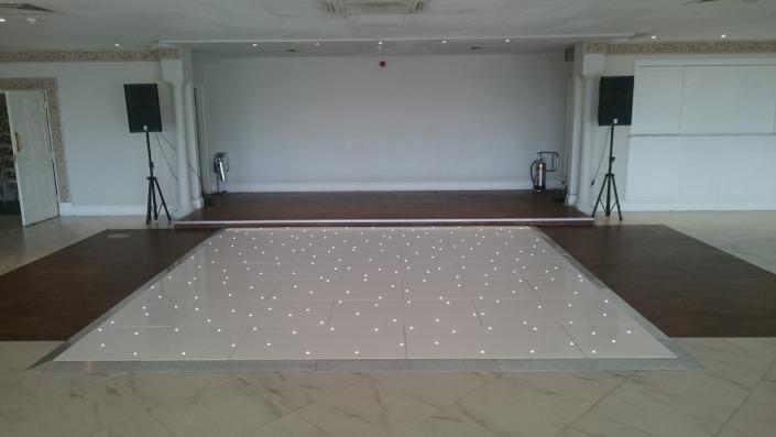 14ft x 14ft white LED dancefloor at froyle park