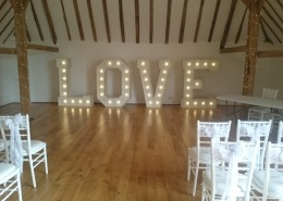 5ft LOVE at Skylarks Golf Barn