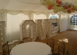 5ft LOVE vintage letters at burley manor new forest