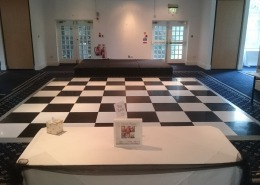 black and white dancefloor at botley grange hotel
