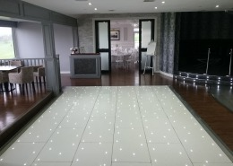 skylarks wedding venue long white led dancefloor hire