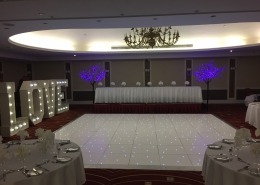 portsmouth marriott hotel 5ft love white led dancefloor purple cherry twig trees