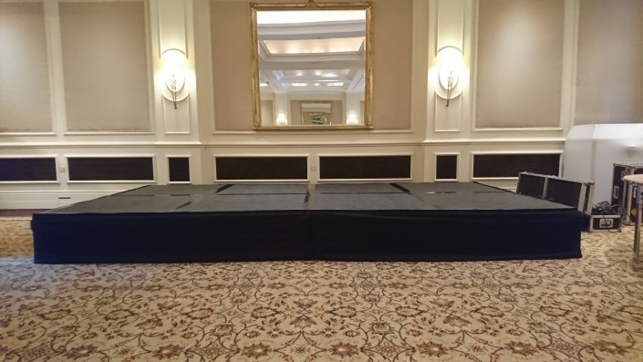 stage hire at four seasons hotel hook