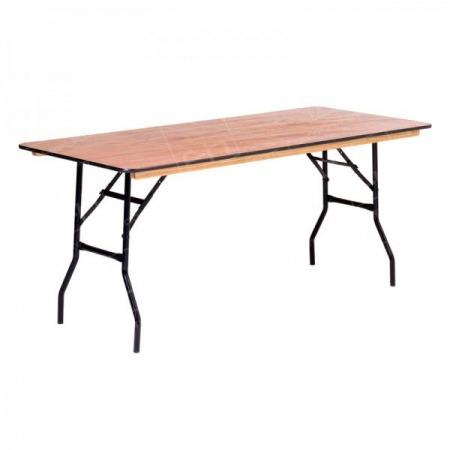 6ft Wooden Trestle Table