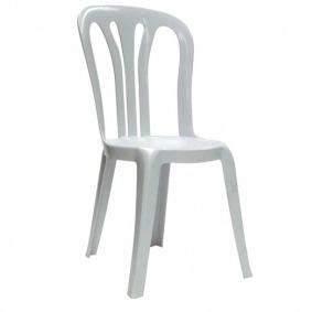 white bistro chair hire