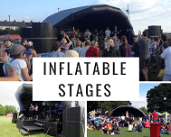 inflatable stage