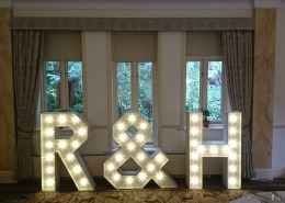 individual letters R H at Careys Manor Hotel new forest