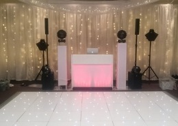 new place led dancefloor backdrop