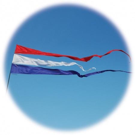 streamer flags flying