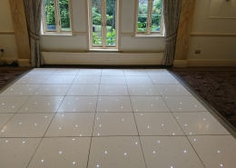 white led dancefloor at Careys Manor Hotel