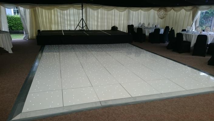 White LED Dancefloor at New Forest Balmer Lawn Brockenhurst