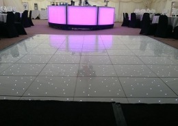 balmer lawn hotel new forest white led dancefloor in marquee