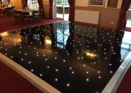 dorset military base black led dancefloor