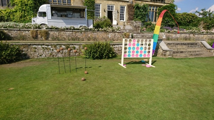 giant connect 4 four and coconut shy at cowdray house