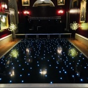 goodwood house black led dancefloor hire