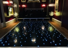 goodwood house black led dancefloor hire