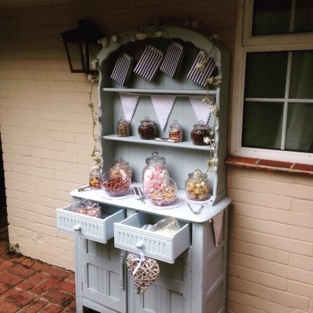 sweetie sweet dresser candy cart