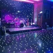 Cowdray House Black led Dancefloor Showband Uplighting Starcloth