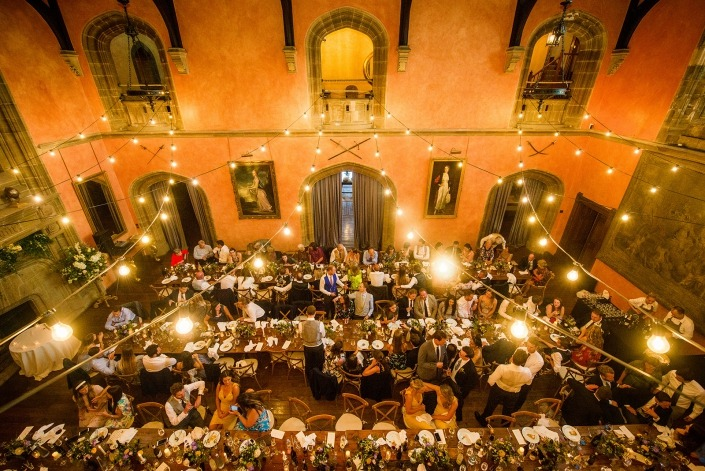 Cowdray House Festoon lighting uplighters festoons 3
