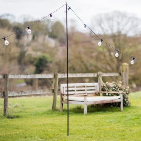 outdoor lighting festoon bunting pole stand