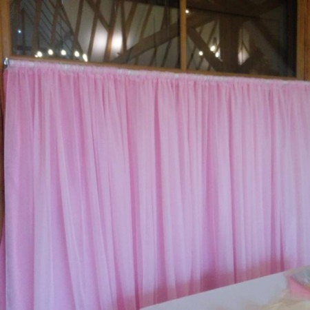 Skylark Barn Pink Backdrop with Voile Front
